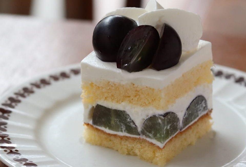 ナガノパープルを使ったショートケーキ
