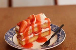 わだちファームの苺のショートケーキ