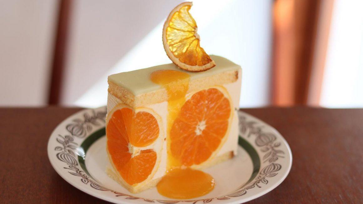 『かねよし農園』の清見オレンジを使ったケーキ