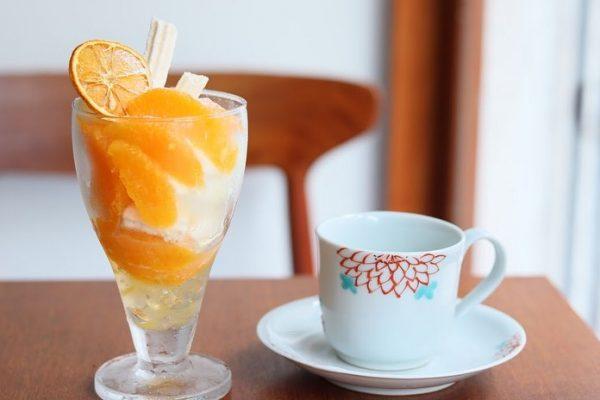mui:青バレンシアオレンジのパフェ