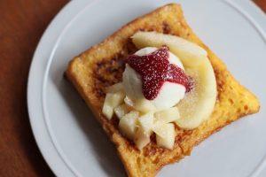 mui 桃のフレンチトースト