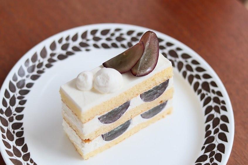 ナガノパープルのショートケーキ